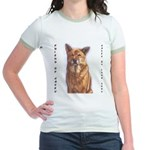 Pet Portrait Custom Art Jr. Ringer T-Shirt