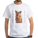 Pet Portrait Custom Art White T-Shirt