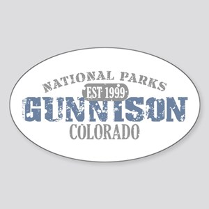 Gunnison National Park CO Sticker (Oval)