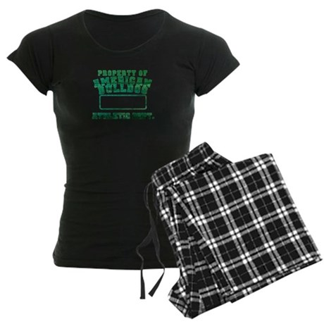 Property of American Bulldog Women's Dark Pajamas