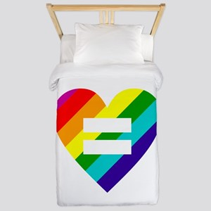 Rainbow love equals love Twin Duvet Cover