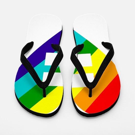 Rainbow love equals love Flip Flops