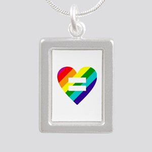 Rainbow love equals love Necklaces