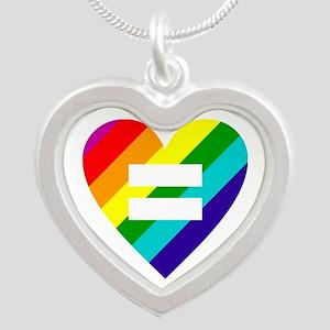 Rainbow love equals love Necklaces