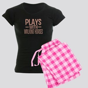 PLAYS Walking Horses Women's Dark Pajamas