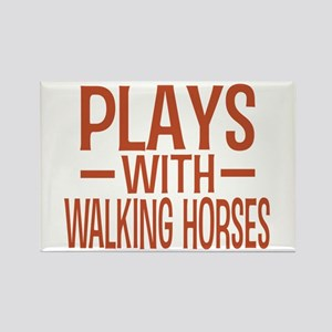 PLAYS Walking Horses Rectangle Magnet
