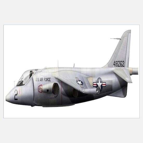 Illustration of a Hawker P1127 Kestrel