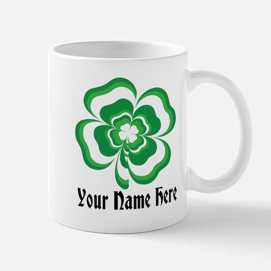 Customizable Stacked Shamrock Mug