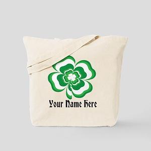 Customizable Stacked Shamrock Tote Bag