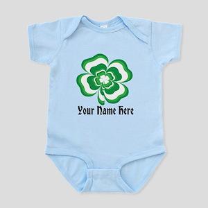 Customizable Stacked Shamrock Infant Bodysuit