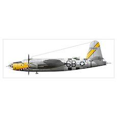 Illustration of a Martin-B-26 Marauder Poster