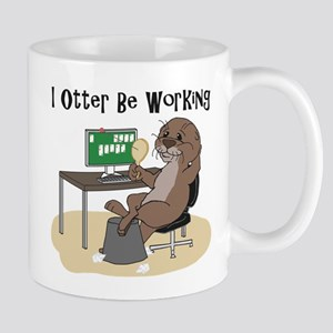 I Otter Be Working Mugs