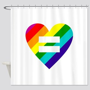 Rainbow love equals love Shower Curtain
