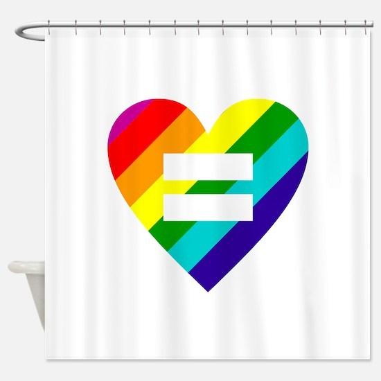 Rainbow love equals love Shower Curtain