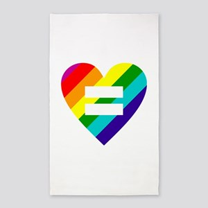 Rainbow love equals love Area Rug