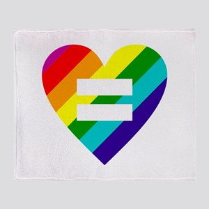 Rainbow love equals love Throw Blanket
