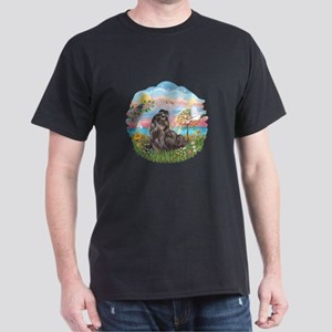 AngelStar-Blk-ShihTzu Dark T-Shirt