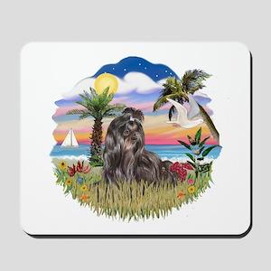 Palms - Black Shih Tzu Mousepad