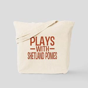PLAYS Shetland Ponies Tote Bag