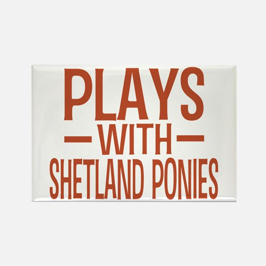 PLAYS Shetland Ponies Rectangle Magnet