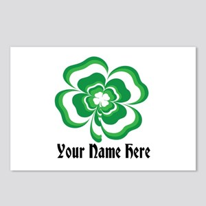 Customizable Stacked Shamrock Postcards (Package o