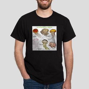 Jellyfish of the World Dark T-Shirt