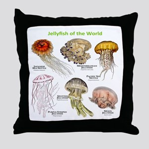 Jellyfish of the World Throw Pillow