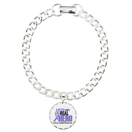 Never Knew a Hero Esophageal Cancer Charm Bracelet