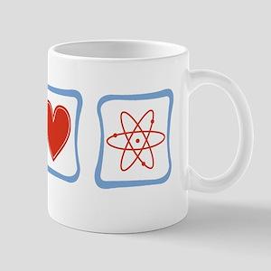 Peace, Love and Scientists Mug