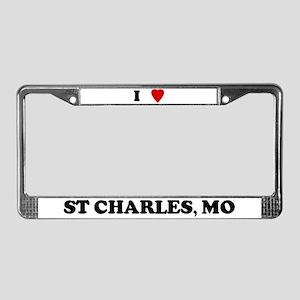 I Love St. Charles License Plate Frame