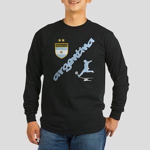 Argentina Soccer Long Sleeve Dark T-Shirt