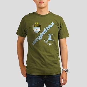 Argentina Soccer Organic Men's T-Shirt (dark)