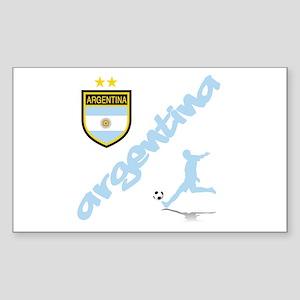 Argentina Soccer Sticker (Rectangle)