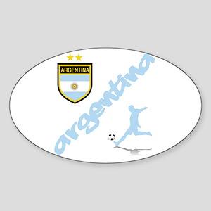 Argentina Soccer Sticker (Oval)