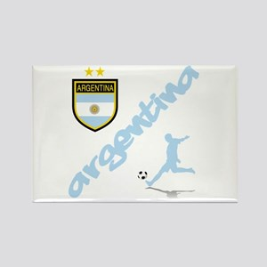 Argentina Soccer Rectangle Magnet