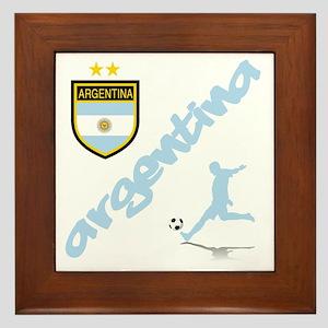Argentina Soccer Framed Tile