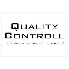 Q Controll Wall Art Poster