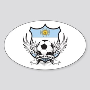 Argentina Soccer Sticker (Oval)
