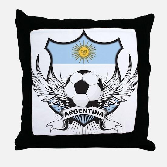 Argentina Soccer Throw Pillow