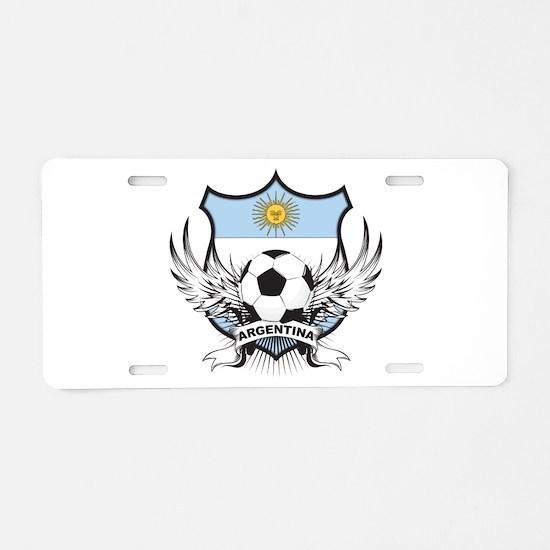 Argentina Soccer Aluminum License Plate