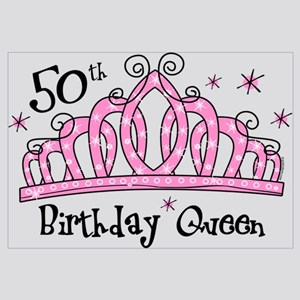 Tiara 50th Birthday Queen Wall Art