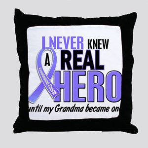 Never Knew a Hero Esophageal Cancer Throw Pillow