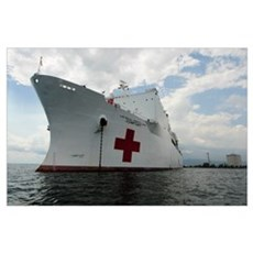 Military Sealift Command hospital ship USNS Comfor Poster