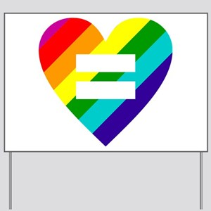 Rainbow love equals love Yard Sign