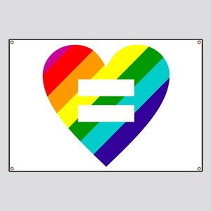 Rainbow love equals love Banner
