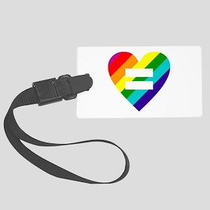 Rainbow love equals love Large Luggage Tag