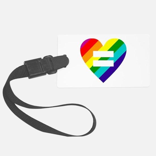 Rainbow love equals love Luggage Tag
