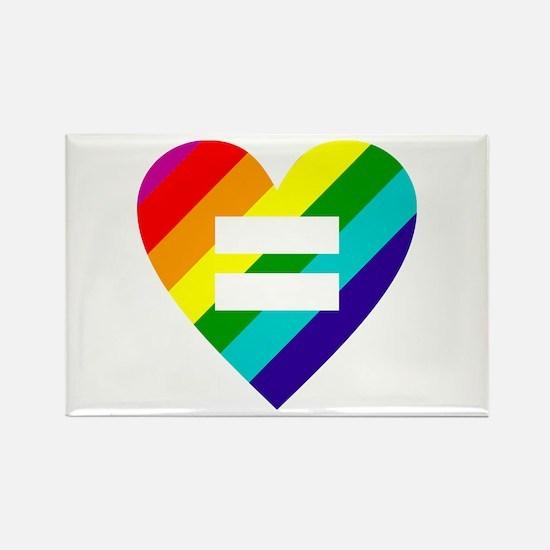 Rainbow love equals love Magnets