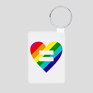 Rainbow love equals love Keychains