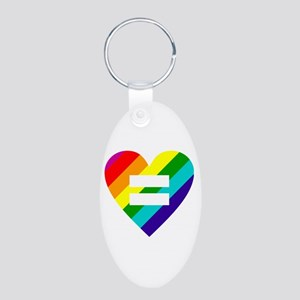 Rainbow love equals love Keychains